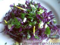 Фото к рецепту: Краснокочанная маринованная капуста