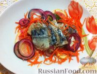 Фото к рецепту: Скумбрия маринованная