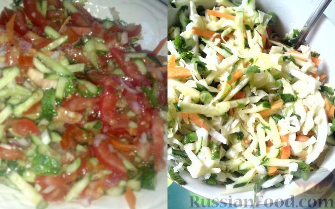 Рецепт Овощные салатики