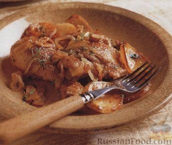 Рецепт Картофель, запеченный с курятиной
