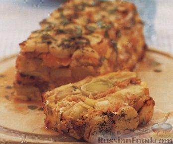 Рецепт Картофельная запеканка с лососем