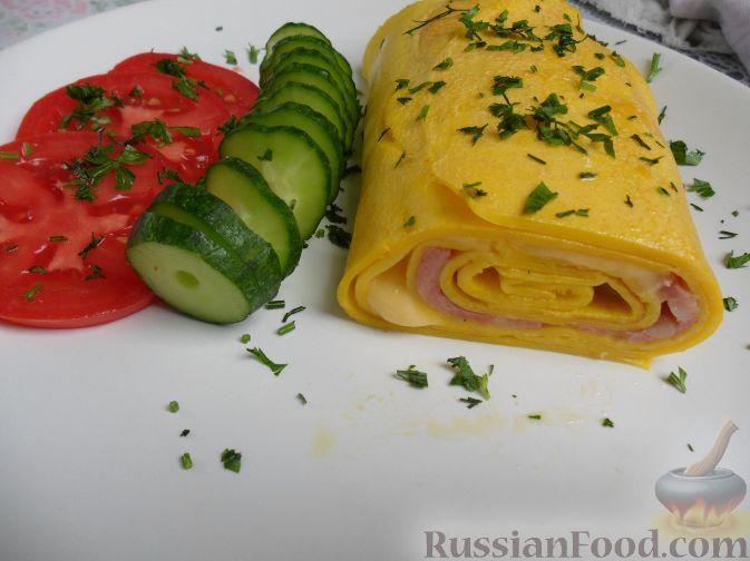 Рецепт Рулет из яиц с начинкой