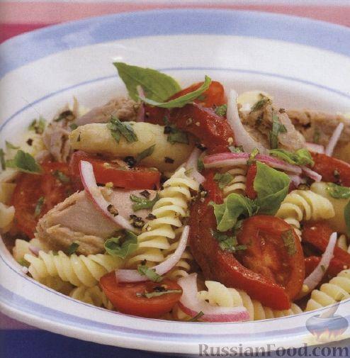 Рецепт Салат из макарон, тунца и болгарского перца