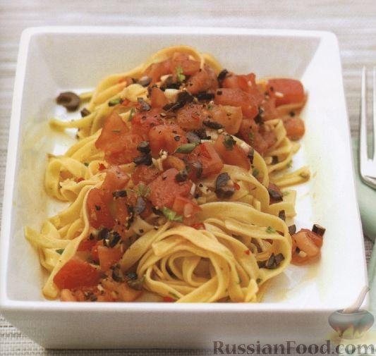 Рецепт Феттучини с томатно-чесночным соусом