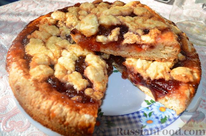 Рецепт Пирог со сливовым вареньем