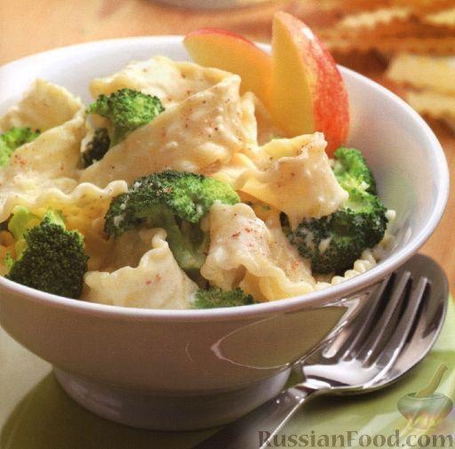 Рецепт Папарделле с брокколи в сливочном соусе