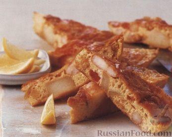 Рецепт Омлет с креветками и картофелем