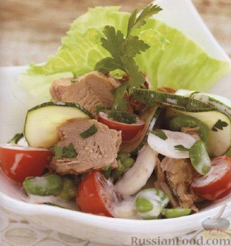 Рецепт Салат из тунца с овощами