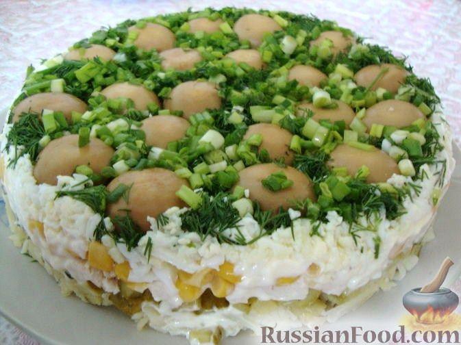 салат грибная курочка рецепт