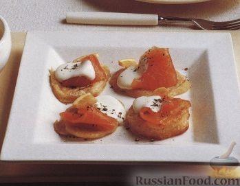 Рецепт Картофельная закуска с лососем