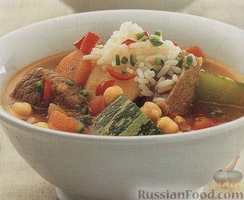 Рецепт Суп с мясом и овощами