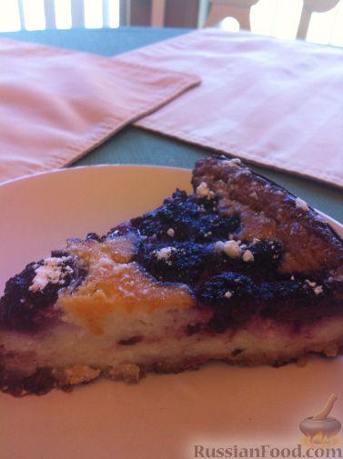 Фото приготовления рецепта: Творожный пирог с ежевикой - шаг №1