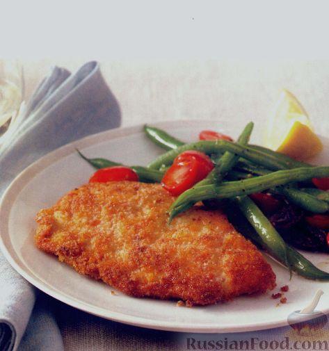 Рецепт Отбивные из индейки и салат из стручковой фасоли