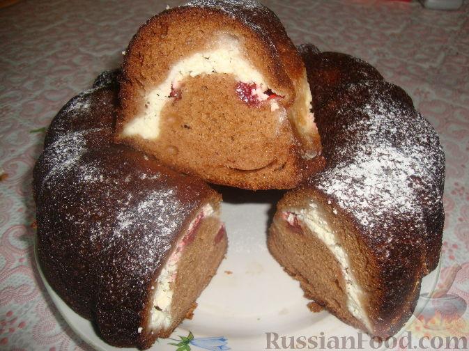 Рецепт Пирог с творогом и клубникой