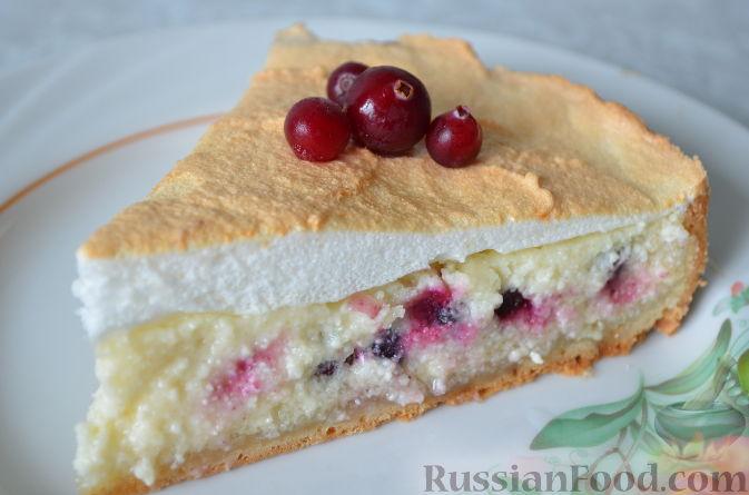 Рецепт Творожный пирог с брусникой