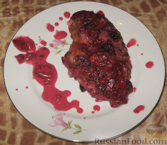 Рецепт Куриные грудки под соусом из крыжовника и смородины