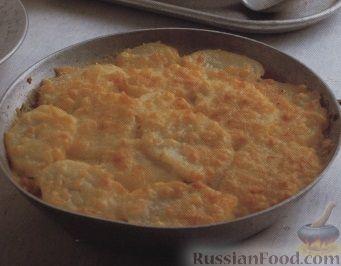 Рецепт Картофель, запеченный с мидиями
