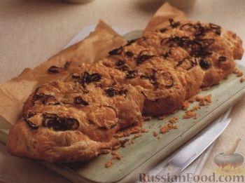 Рецепт Плоский картофельный хлеб с луком и сыром