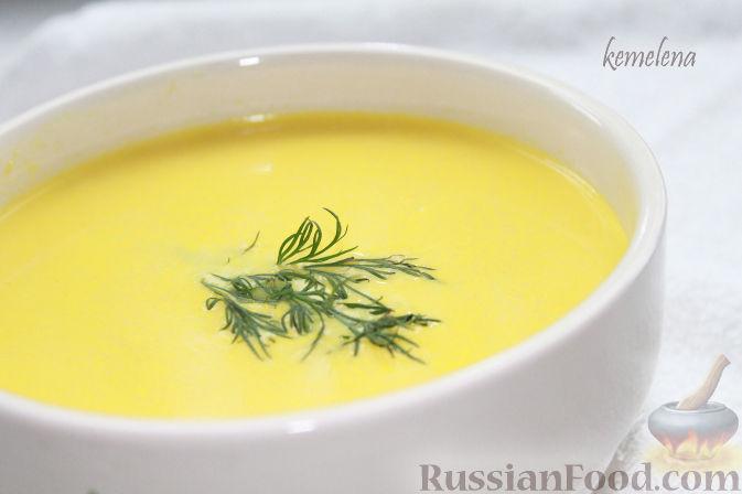 Рецепт Кукурузный крем-суп с креветками