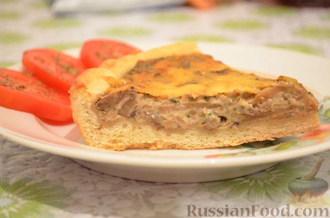 """Рецепт Пирог """"Грибной жульен"""""""