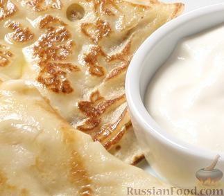 Рецепт Русские блины со сметаной