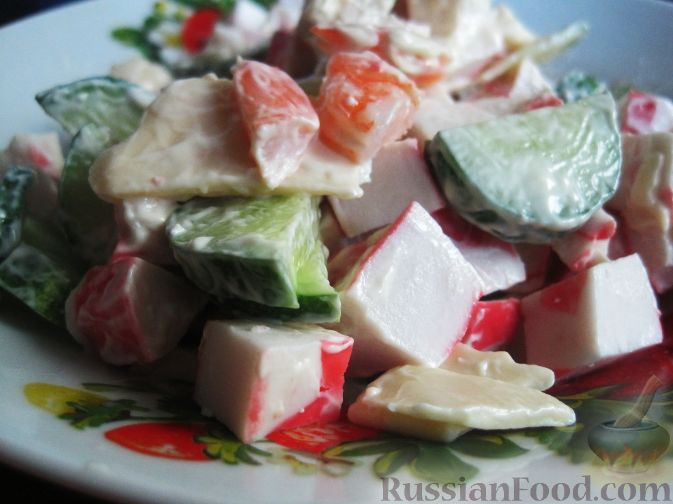 Рецепт Вкусный салат с крабовым мясом