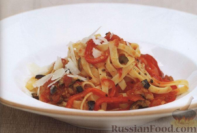 Рецепт Феттучини с томатным соусом
