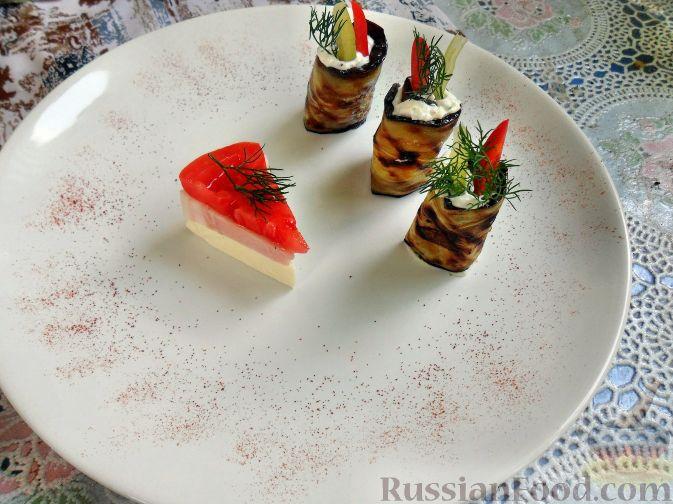 Рецепт Баклажаны жареные, с начинкой из сыра фета