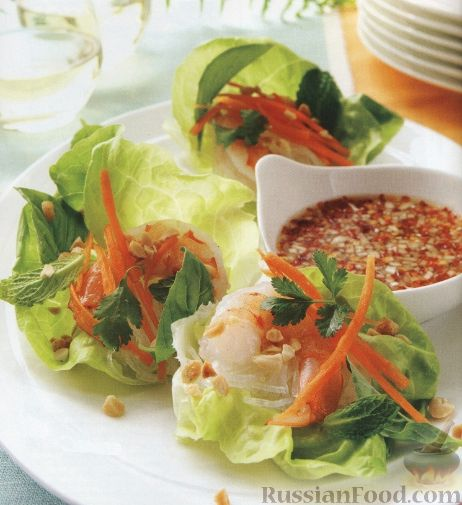 Рецепт Закуска из креветок с рыбной заправкой