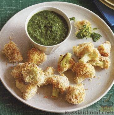 Рецепт Цветная капуста в панировке, запеченная в духовке