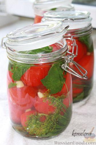 Рецепт Маринованные помидоры с медом и чесноком