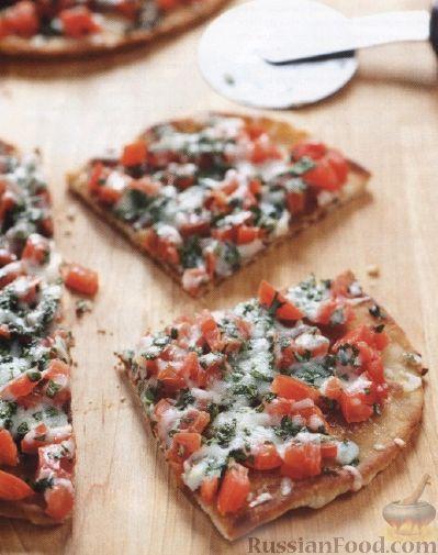 Рецепт Пицца с помидорами на сковороде