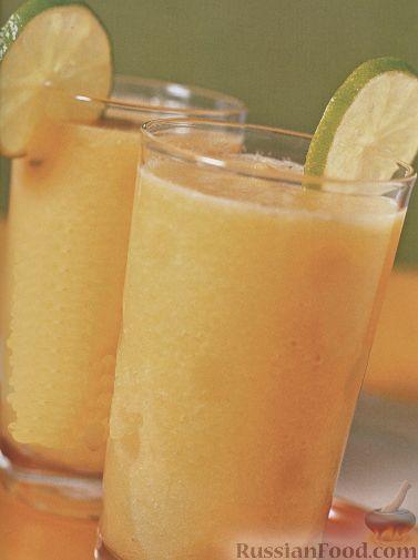 Рецепт Смузи из дыни, персика и лайма