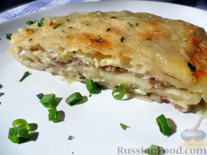 Рецепт Бурек по-сербски (с мясом и сыром)