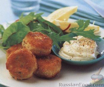 Рецепт Картофельно-рыбные котлетки с соусом айоли