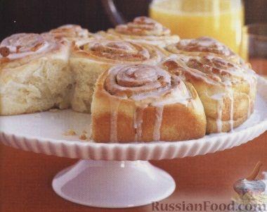 Рецепт Булочки с корицей в сахарной глазури