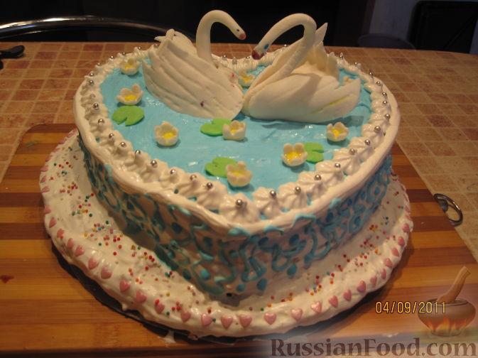 торт с лебедями рецепт