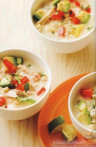 Рецепт Сливочный суп с кукурузой и курятиной