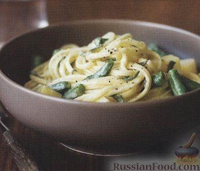Рецепт Спагетти со стручковой фасолью и голубым сыром