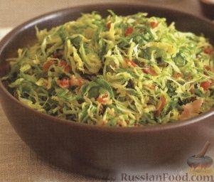 Рецепт Жареная брюссельская капуста с мясом