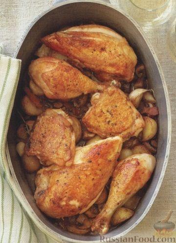 Рецепт Курица, жаренная с овощами
