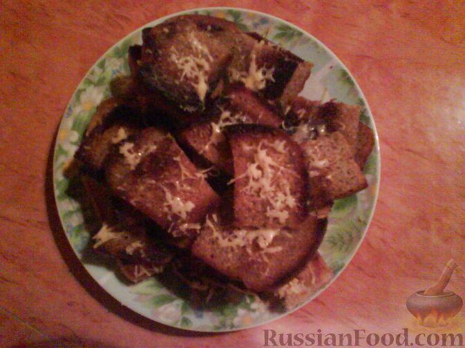 Рецепт Гренки с чесноком и сыром