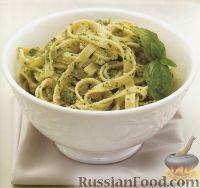 Фото к рецепту: Тальятелле с соусом песто