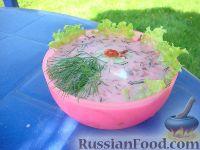 Фото к рецепту: Холодный борщ на кефире