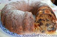 Фото к рецепту: Кекс с курагой, черносливом и орехами