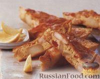 Фото к рецепту: Омлет с креветками и картофелем
