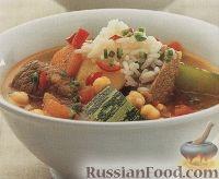 Фото к рецепту: Суп с мясом и овощами