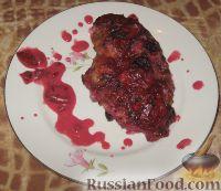 Фото к рецепту: Куриные грудки под соусом из крыжовника и смородины