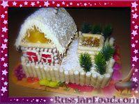 """Фото к рецепту: Торт """"Жила зима в избушке"""""""