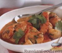 Фото к рецепту: Картофель с креветками